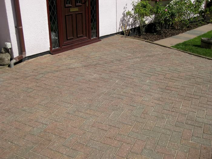 Clean driveway after