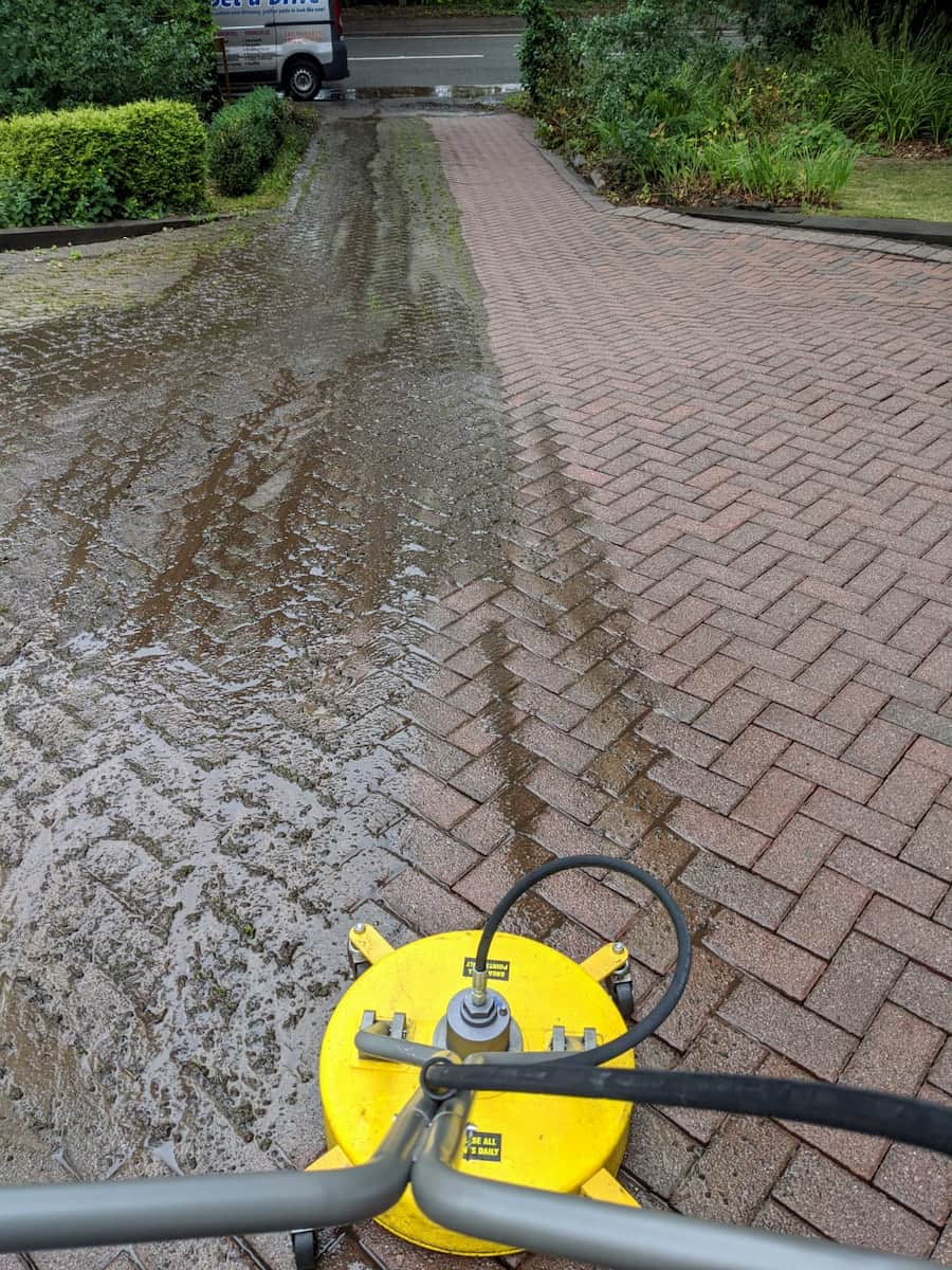 Block Paving driveway clean